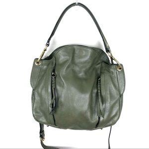 OrYany Leather Convertible Shoulder Bag Green
